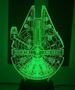 star wars millenium falcon 3d colour changing light