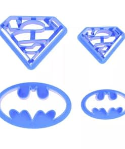 batman and superman cookie cutters