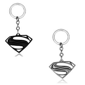 Superman emblem keyrings