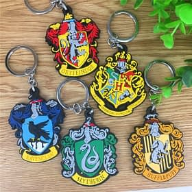 Harry Potter house rubber keyring