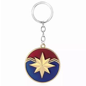 captain marvel emblem keyring