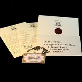 harry potter hogwarts letter set