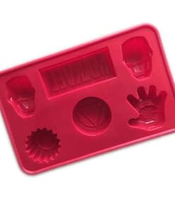marvel iron man ice tray with 6 varied shapes