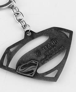 superman emblem keyring back