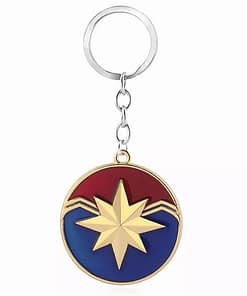 captain marvel emblem keyring