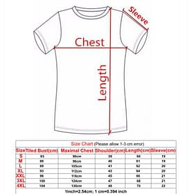 compression shirt size chart